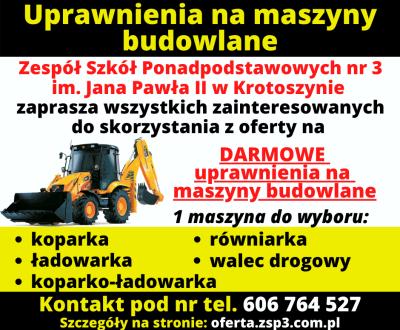 Uprawnienia maszyny budowlane